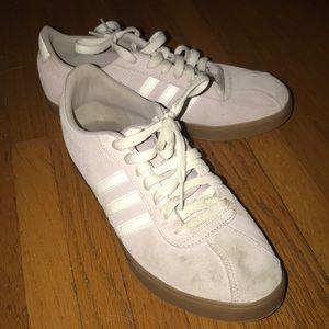Pink suede adidas w/ brown sole
